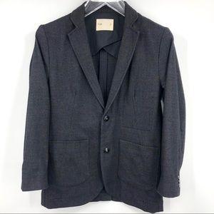 FOLK Men's Single Breasted Wool Blend Blazer